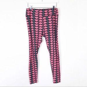 Lularoe LLR Pink and Black Raccoon TC Leggings